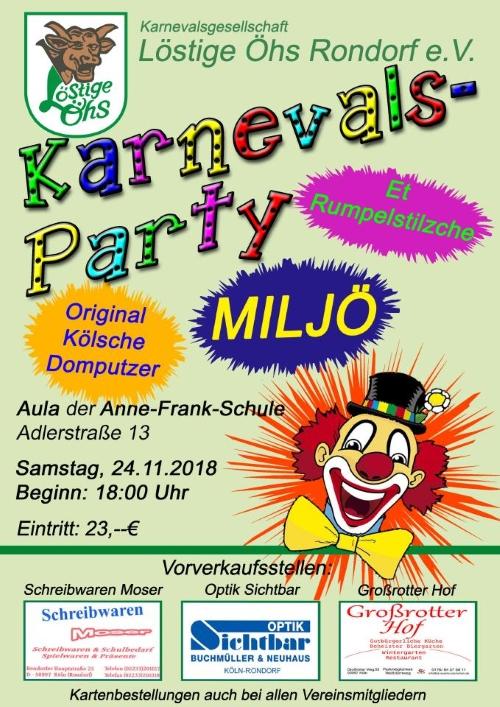 Karnevalsparty Löstige Öhs